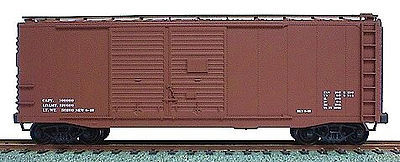 Accurail 40 Double-Door Box Car - Data Only (Mineral Red) HO Scale Model Train Freight Car #3698
