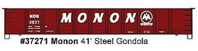 Accurail AAR 41 Steel Gondola - Kit - Monon #3837 (Boxcar Red) HO Scale Model Train Freight Car #37271