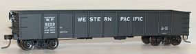 Accurail 41 Steel Gondola Kit (Plastic) Western Pacific (black) HO Scale Model Train Freight Car #3739