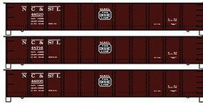 Accurail 416 AAR AAR Steel Gondola NC&STL (3) HO Scale Model Train Freight Car Set #37584