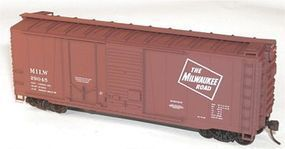 Accurail 40 Combination Door Steel Boxcar Kit Milwaukee Road HO Scale Model Train Freight Car #38041