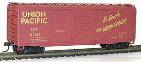 Accurail 40 Combination Door Steel Boxcar - Kit Union Pacific #110189 (Boxcar Red, yellow, Be Specific Slogan)