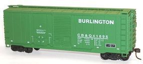 Accurail 40 Combination Door Steel Boxcar Kit C,B&Q #41695 HO Scale Model Train Freight Car #3813