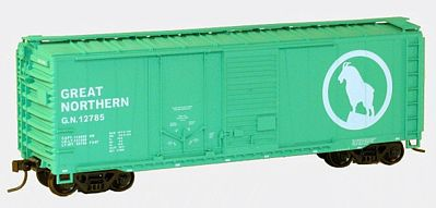 Accurail 40' Combination Door Steel Boxcar Kit Great Northern -- HO Scale Model Train Freight Car -- #3814