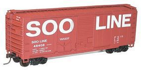 Accurail 40 Steel Boxcar SOO HO Scale Model Train Freight Car #3815