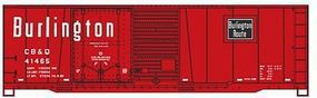 Accurail Burlington CB&Q 40 Combo Door Boxcar HO Scale Model Train Freight Car #3816