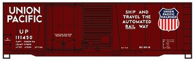 Accurail 40 Combine Door Steel Boxcar Union Pacific Kit HO Scale Model Train Freight Car #3818