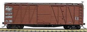 Accurail 40 Wood Outside-Braced Boxcar Kit Milwaukee Road HO Scale Model Train Freight Car #4103