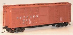 Accurail 8-Panel Wood Boxcar Rutland HO Scale Model Train Freight Car #41059