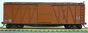 Accurail 40 Wood Outside-Braced Boxcar Kit (Plastic) Data Only HO Scale Model Train Freight Car #4198