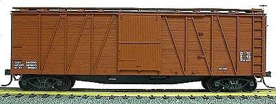Accurail 40 Wood Outside-Braced Boxcar Kit (Plastic) Data Only HO Scale Model Train Freight Car #4199