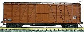 Accurail 40' Wood Outside-Braced Boxcar Kit (Plastic) Data Only HO Scale Model Train Freight Car #4199