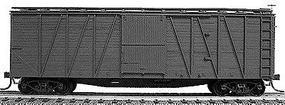 Accurail 40 Wood 8-Panel Outside-Braced Boxcar Kit Undecorated HO Scale Model Train Freight Car #4300