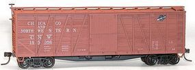 40' Outside Braced Boxcar Chicago & North Western HO Scale Model Train Freight Car #43031