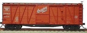 Accurail 40 Wood Outside-Braced Boxcar Kit C,B,&Q HO Scale Model Train Freight Car #4321