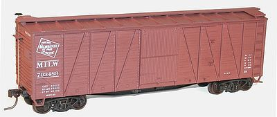 Accurail 40' Wood 8-Panel Boxcar Kit Milwaukee Road -- HO Scale Model Train Freight Car -- #4322
