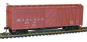 Accurail HO Pennsylvania 40 Outside Braced Wood Boxcar w/Steel Ends