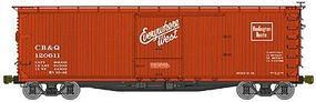 Accurail 40 Double-Sheathed Wood Boxcar Kit C,B,&Q HO Scale Model Train Freight Car #4603