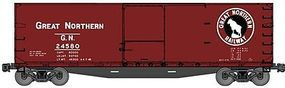Accurail 40 Double-Sheathed Wood Boxcar Kit Great Northern HO Scale Model Train Freight Car #46043