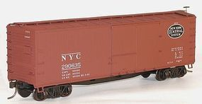 Accurail 40 Double-Sheathed Wood Boxcar Kit New York Central HO Scale Model Train Freight Car #46063