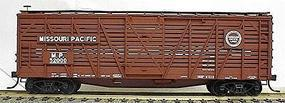 Accurail 40 Wood Stock Car - Kit (Plastic) - Missouri Pacific HO Scale Model Train Freight Car #4707