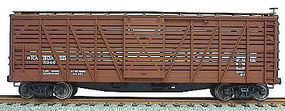 Accurail 40 Wood Stock Car Kit (Plastic) Seaboard (Mineral Red) HO Scale Model Train Freight Car #4716