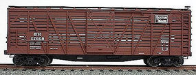 Accurail 40 Wood Stock Car - Kit (Plastic) - Boston & Maine HO Scale Model Train Freight Car #4717