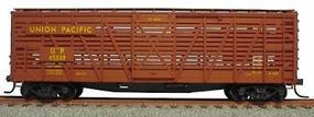 Accurail 40 Wood Stock Car - Kit (Plastic) - Union Pacific HO Scale Model Train Freight Car #4721