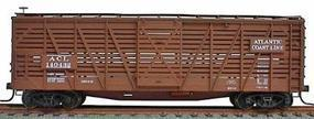Accurail 40 Wood Stock Car - Kit (Plastic) Atlantic Coast Line HO Scale Model Train Freight Car #4725