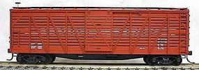 Accurail 40 Wood Stock Car - Data Only (Oxide) HO Scale Model Train Freight Car #4799