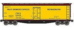 Accurail 40 Wood Reefer - Kit - Fruit Growers Express #55409 HO Scale Model Train Freight Car #48022