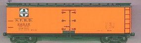 Accurail 40 Wood Reefer Kit Santa Fe HO Scale Model Train Freight Car #4808