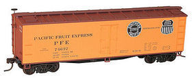 Accurail 40 Wood Reefer - Kit - Pacific Fruit Express HO Scale Model Train Freight Car #48121
