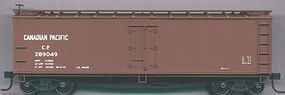 Accurail 40 Wood Reefer - Plastic Kit - Canadian Pacific HO Scale Model Train Freight Car #4822