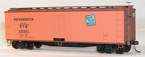 Accurail 40 Wood Reefer - Plastic Kit - Grand Trunk Western HO Scale Model Train Freight Car #4832