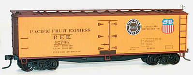 Accurail 40 Wood Reefer Kit Pacific Fruit Express HO Scale Model Train Freight Car #48333