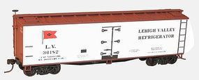 Accurail 40 Wood Reefer - Kit - Lehigh Valley HO Scale Model Train Freight Car #4849