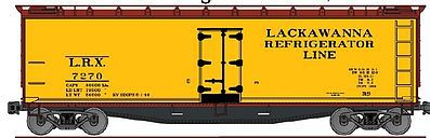 Accurail 40' Wood Reefer Lackawanna Refrigerator Line -- HO Scale Model Train Freight Car -- #4850