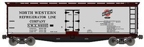 Accurail 40 Wood Reefer North Western Refrigerator Car HO Scale Model Train Freight Car #4902