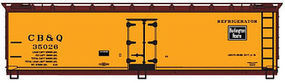 Accurail 40 Wood Reefer Chicago, Burlington, & Quincy HO Scale Model Train Freight Car #4903