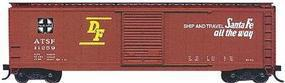 Accurail 50 Single-Door Riveted-Side Boxcar - Kit - Santa Fe HO Scale Model Train Freight Car #5001