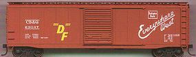 Accurail 50 Single-Door Riveted-Side Boxcar - Kit - C,B,&Q HO Scale Model Train Freight Car #50081