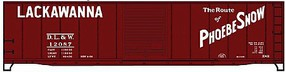 Accurail 50 Single-Door Riveted-Side Boxcar Kit - DL&W #12057 HO Scale Model Train Freight Car #50101