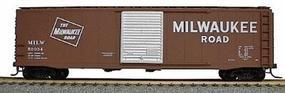 Accurail 50 Single-Door Riveted-Side Boxcar Kit Milwaukee Road HO Scale Model Train Freight Car #5024