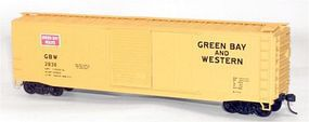 Accurail 50 Single-Door Boxcar - Kit - Green Bay & Western HO Scale Model Train Freight Car #5028