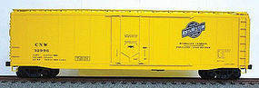 50' Plug-Door Riveted Boxcar Kit Chicago & N W (yellow) HO Scale Model Train Freight Car #5110