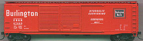 Accurail 50 Steel Double-Door Boxcar Kit C, B,&Q HO Scale Model Train Freight Car #5207