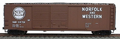 Accurail 50 AAR Dbl Door Riveted Boxcar Kit Norfolk & Western HO Scale Model Train Freight Car #5225