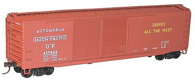 Accurail 50' Steel Double-Door Boxcar Kit Union Pacific #455842 -- HO Scale Model Train Freight Car -- #5234