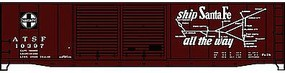 Accurail 50 Steel Double Door Boxcar ATSF HO Scale Model Train Freight Car Kit #5238